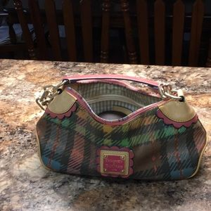 Dooney and Bourke 1975 small purse rainbow zipper